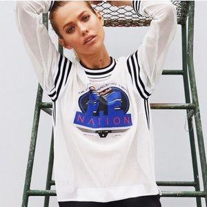 P.E Nation First Track Mesh Sweatshirt